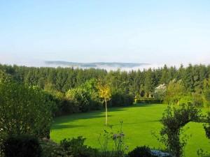 Uitzicht tuin zomer vakantiehuis Ardennen (3)
